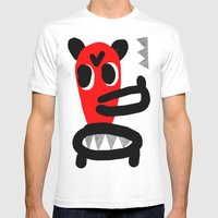 LONG MUZZLE Mens Fitted Tee White SMALL