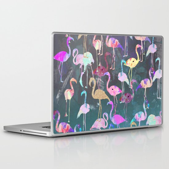 After Dark Flamingo Party  Laptop & iPad Skin