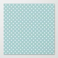 tiffany blue triangle pattern Canvas Print