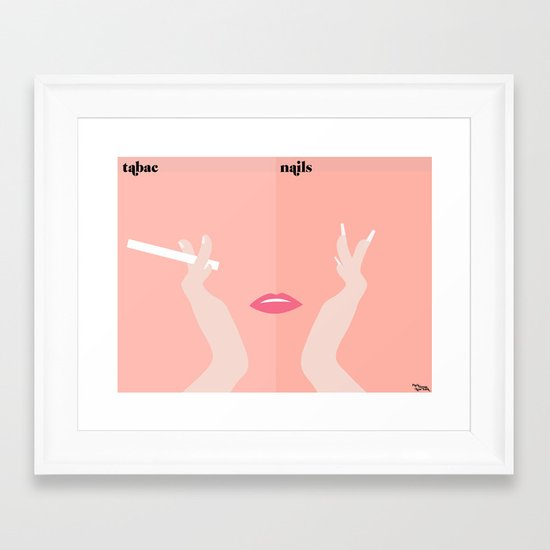 les mains Framed Art Print