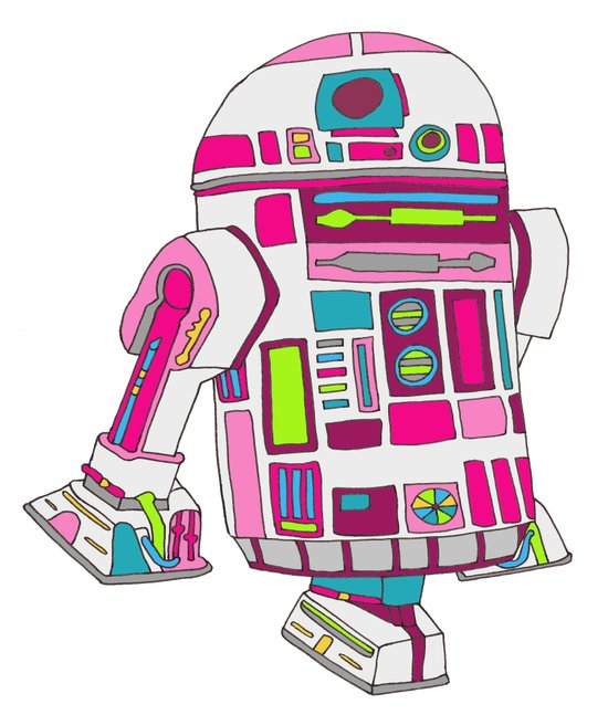 Cool Girls Like Epic Droids Canvas Print