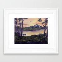 Deer Island Framed Art Print