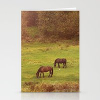 horses Stationery Cards featuring Horses by SensualPatterns