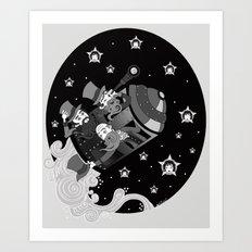 A trip to the moon Art Print