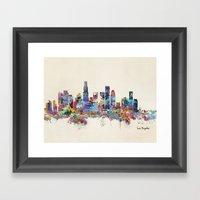 Los Angeles California S… Framed Art Print