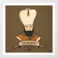 Sultanahmet, Istanbul Art Print