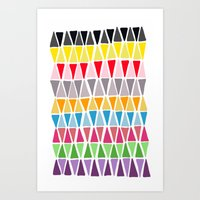 Triangle Pattern Art Print