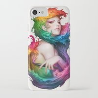 hair iPhone & iPod Cases featuring Angel of Colors by Artgerm™