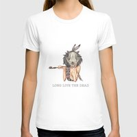 Long Live The Dead - Rac… Womens Fitted Tee White SMALL