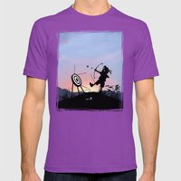 Hawkeye Kid Mens Fitted Tee Ultraviolet SMALL