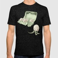 In Which Dinosaur Eggs A… Mens Fitted Tee Tri-Black SMALL