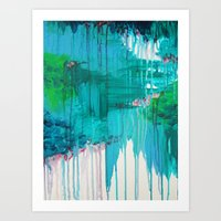 BLUE MONSOON - Stunning … Art Print
