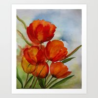 The Paradise Of Tulips Art Print