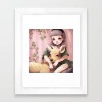 My Dear Lady Deer... Framed Art Print