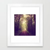 The Sound of Fog Coming Down Framed Art Print