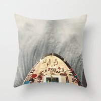 A Great Big Wave (to Was… Throw Pillow