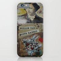 iPhone & iPod Case featuring FOLLOW THE WHITE RABBIT I by Luca Piccini