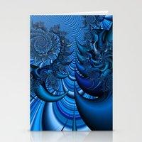 Blue Spike Stationery Cards