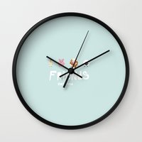 friends not food Wall Clock