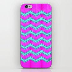 Pink & Cyan Glitter Chevron. #2 iPhone & iPod Skin