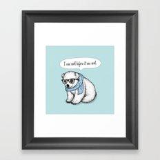 Hipster polarbear Framed Art Print