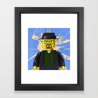LEGO - Walter White Minifigure Framed Art Print