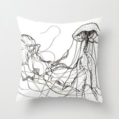Jellyfishes Throw Pillow