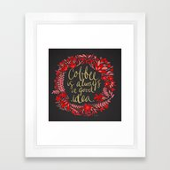 Coffee On Charcoal Framed Art Print