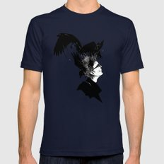 Freedom for my crows... Mens Fitted Tee Navy SMALL