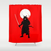 Ghost Samurai Shower Curtain