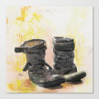 Boots in the Hall Canvas Print