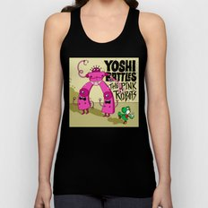 Yoshi Battles The Pink Robots Unisex Tank Top