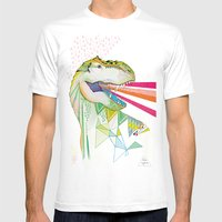 Dinosaur / August Mens Fitted Tee White SMALL