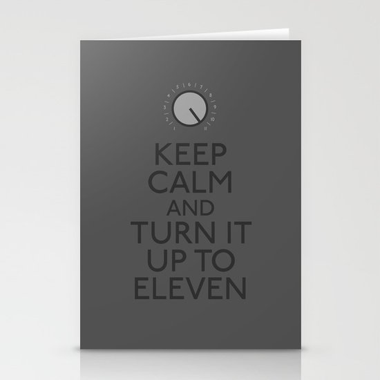 Turn it up to eleven Stationery Card