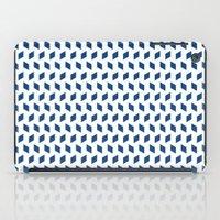 rhombus bomb in monaco blue iPad Case
