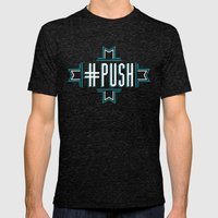 #PUSH Mens Fitted Tee Tri-Black SMALL