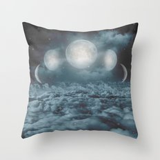 Uncertain. Alone. Cratered By Imperfections. (Loyal Moon) Throw Pillow