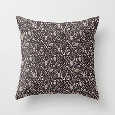 Buried Bones Throw Pillow