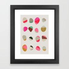 painted pebbles 1 Framed Art Print