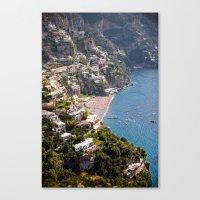 Positano Italy Harbor - Mediterranean Sea Canvas Print