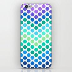 Dot Chevron: Blue Purple iPhone & iPod Skin