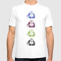 CMYK BUDDHA Mens Fitted Tee White SMALL