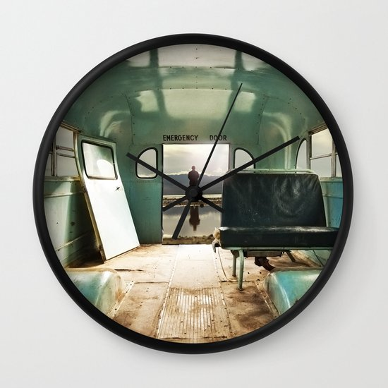 Emergency Door Wall Clock