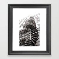 Spiral Stairway Framed Art Print