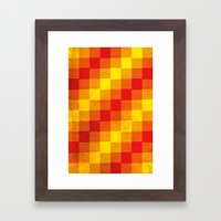 Rusty Yellow And Red Mot… Framed Art Print