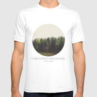 Dark Forest Mens Fitted Tee White SMALL