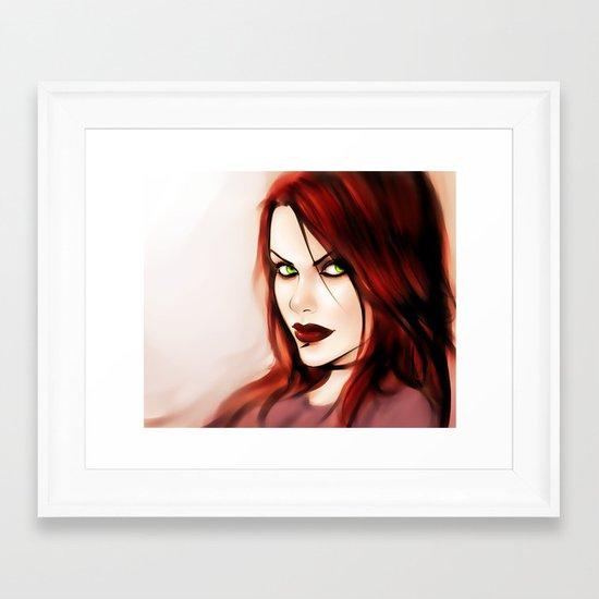 Burning Flame Framed Art Print