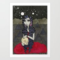 Mary, Seated Art Print