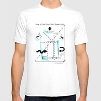 How To Fold Your Shirt Mens Fitted Tee White SMALL