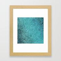 Detailed Zentangle Squar… Framed Art Print